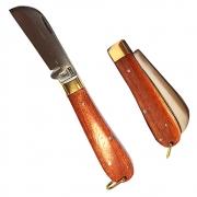 Canivete Karajas Inox Cabo Madeira Redondo Pequeno