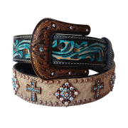 Cinto Arizona Belts Verde Strass 7116