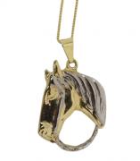 Colar com Pingente Folheado Shine Horse 200.036