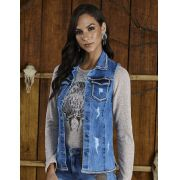 Colete Jeans Feminino Minuty Country 20588