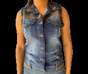 Colete Jeans Feminino Minuty Country 20624