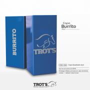 Copo Quadrado Inox Trot´s Burrito Azul