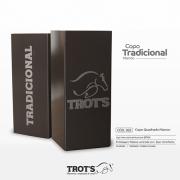 Copo Quadrado Inox Trot´s Tradicional Marrom
