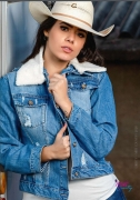 Jaqueta Jeans Feminina Dallas Miss Country