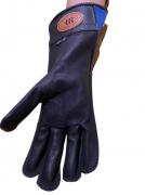 Luva Montaria Indiana Ranch Mão Direita Preta e Azul