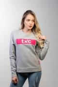 Moletom Feminino TXC Brand Mescla 9069