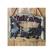 Placa Decorativa Team Roping Montana West