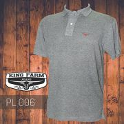 Polo Masculina King Farm Cinza PL006