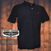 Polo Masculina King Farm Preto PL005