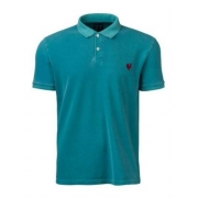 Polo Masculina Made In Mato Turquesa P2082