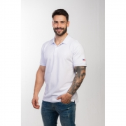 Polo Masculina TXC Brand Branca 6339