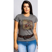 T-Shirt Feminina Miss Country Amores