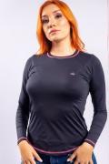 T-Shirt Feminina Miss Country Proteção UV Preta
