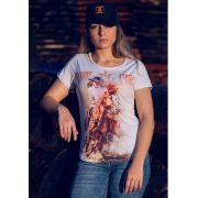 T- Shirt Feminina Ox Horns Branco 6055