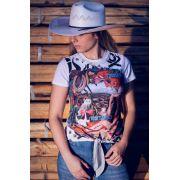 T- Shirt Feminina Ox Horns Branco 6057