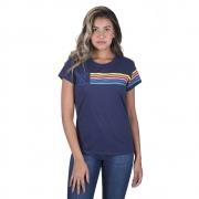 T-Shirt Feminina Wrangler Marinho WF8033