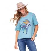 T-Shirt Feminina Zenz Western Flamingo ZW0221002