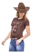 T-Shirt Feminina Zenz Western MGM ZW0121043