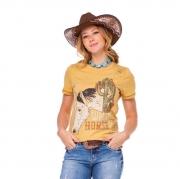 T-Shirt Feminina Zenz Western Wild Horse ZW0221004