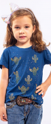 T-Shirt Infantil Miss Country Cactus