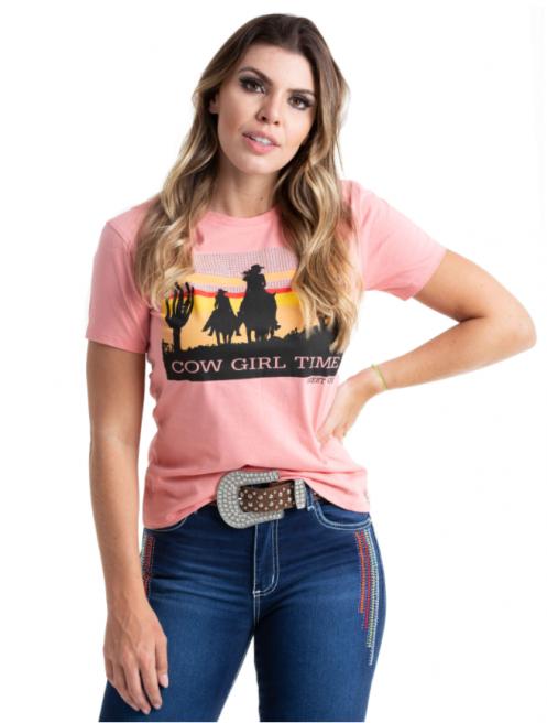 Baby Look Feminina West Dust Cowgirl BL25789