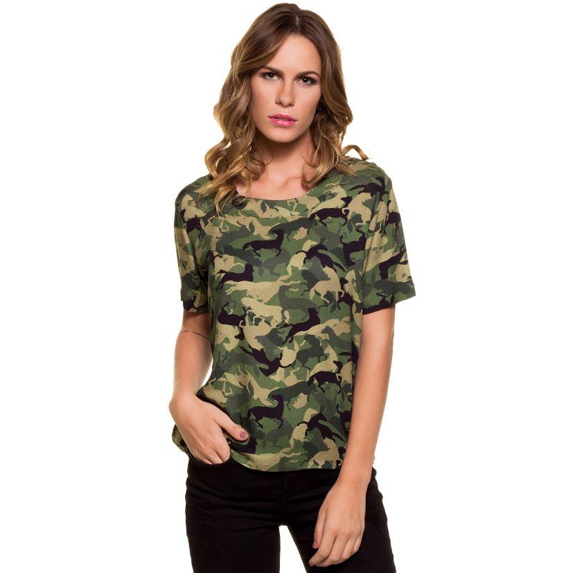 Blusa Feminina Escaramuca Camuflagem  3F6339