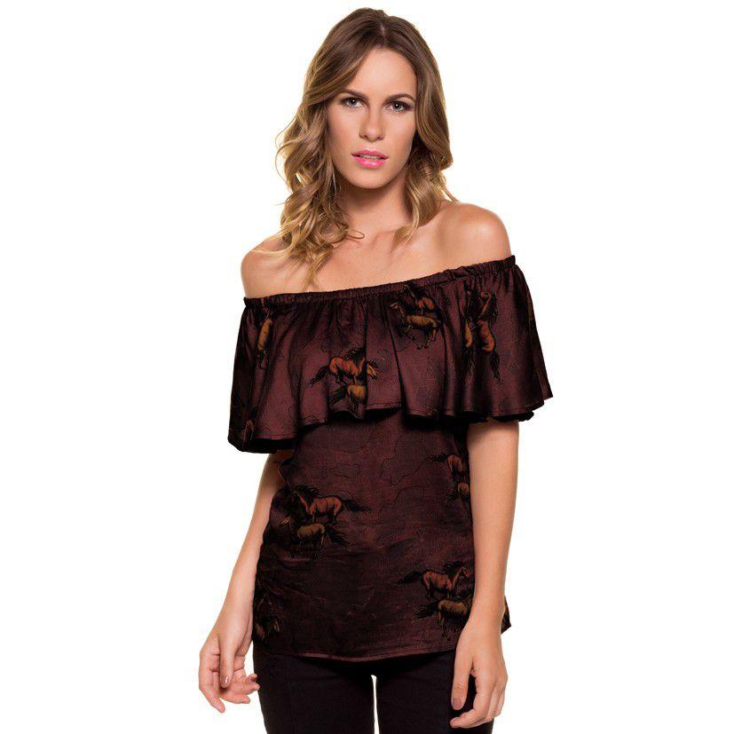 Blusa Feminina Escaramuça Ciganinha 3F6333