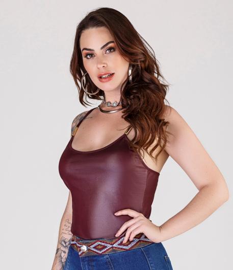 Body Feminino Marsala Minuty 554