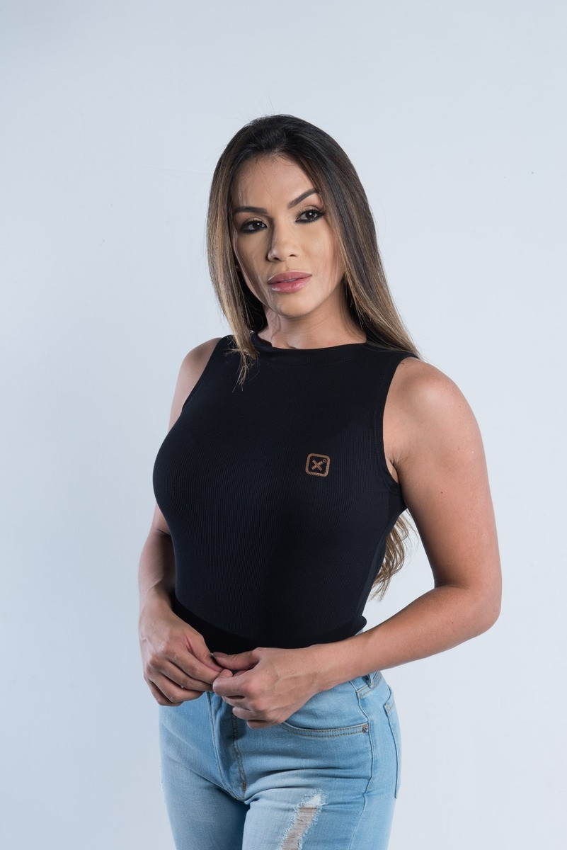 Body Feminino TXC Brand Preto 4749