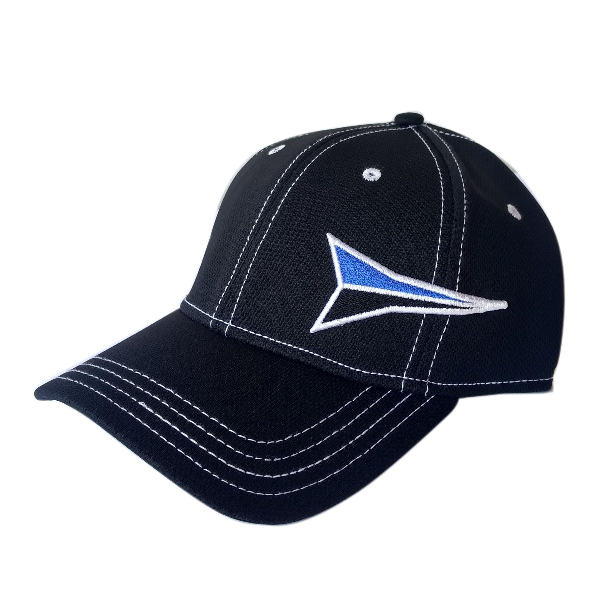 Boné Importado Fast Back Preto Logo Azul E Preto