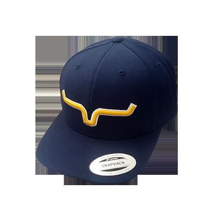 Boné Importado Kimes Ranch Marinho Logo  Amarelo