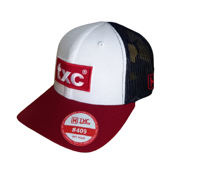 Boné TXC Brand Branco/Vermelho 662C