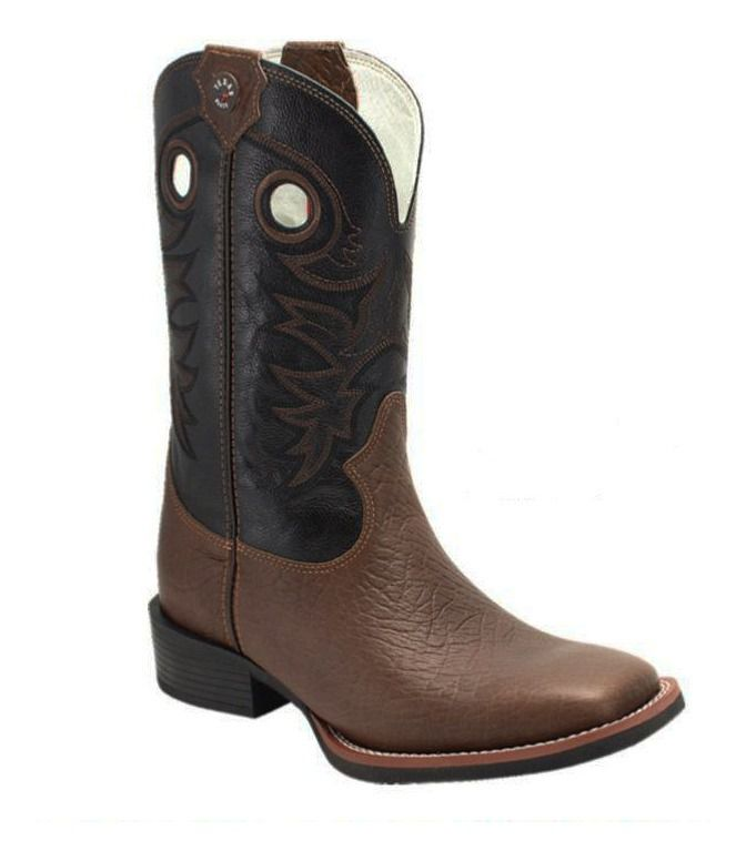 Bota Masculina Texas Boots Mamuti Marrom/Preto T111