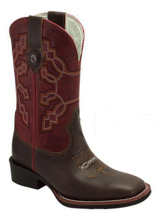 Bota Masculina Texas Rodeo Tabaco/Foosíl Vermelho T103LQBO
