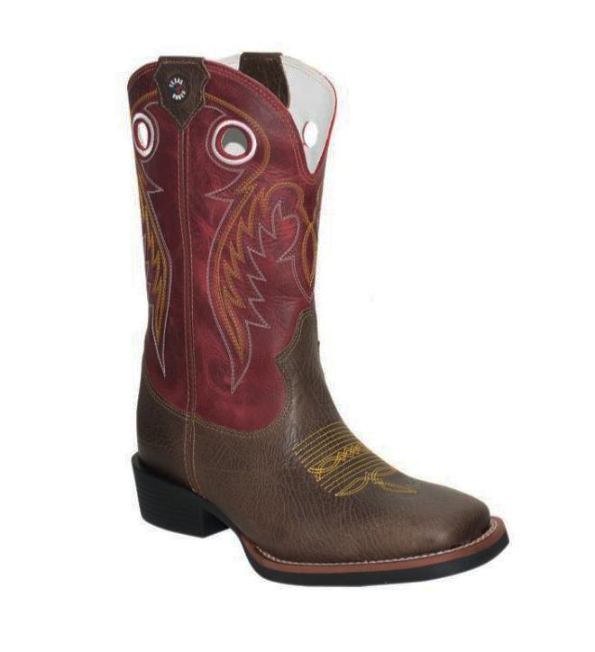 Bota Texas Rodeo Elefante Café/Fossil Vermelho TR277