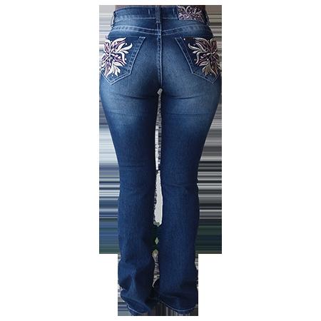 Calça Jeans Feminina Dock´s Bordada Pietra  2213f303731
