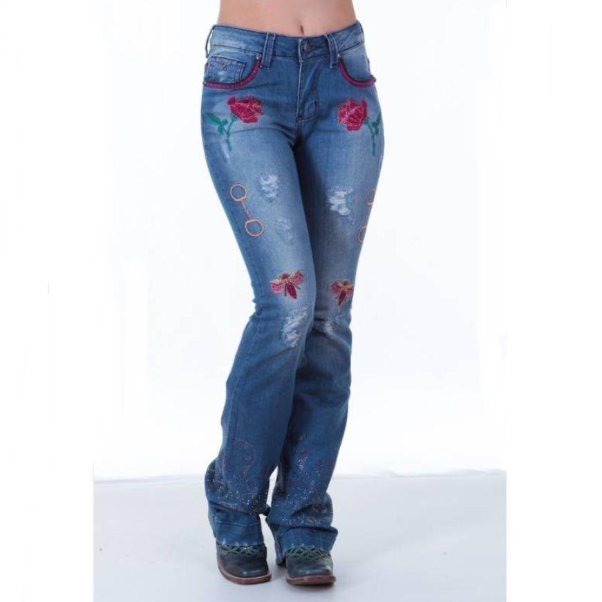 Calça Jeans Feminina Zenz Western Deep Purple 8004  d6363267c46