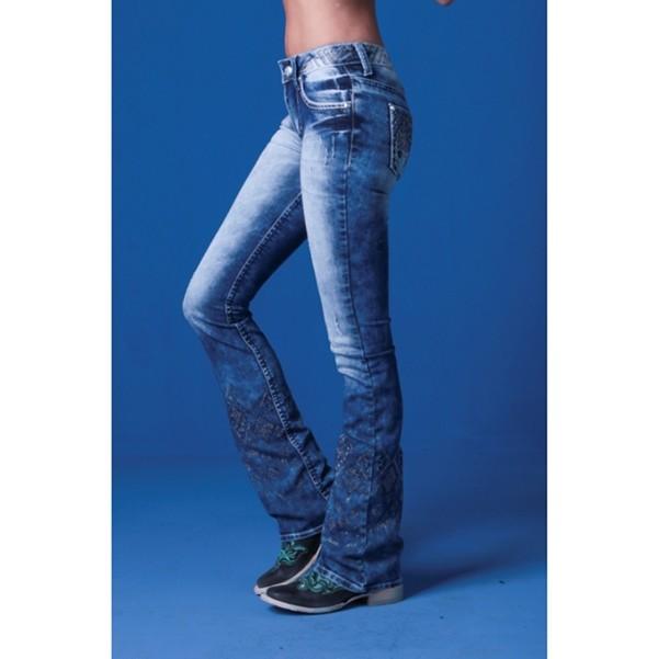 1e46fc16806 Calça Jeans Flare Feminina Zenz Western Galaxy | Celeiro Country.com