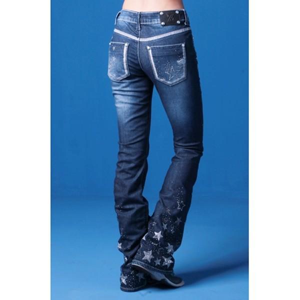 29838f7f104 Calça Jeans Flare Feminina Zenz Western Like A Star | Celeiro ...