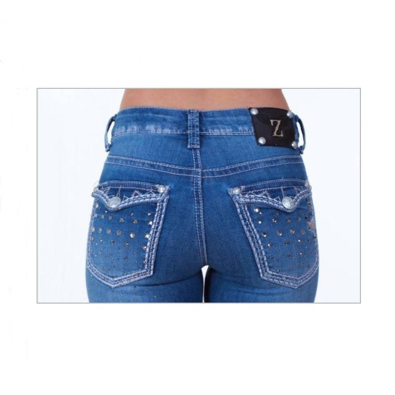 5c0f4560833 Calça Jeans Flare Feminina Zenz Western Hendrix 8026 | Celeiro ...