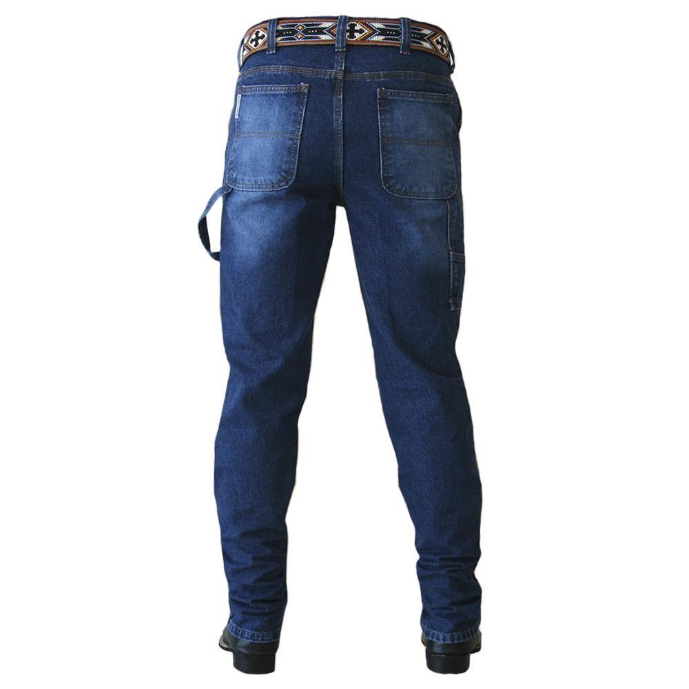 Calca Jeans Masculina Carpenter Blue King Farm