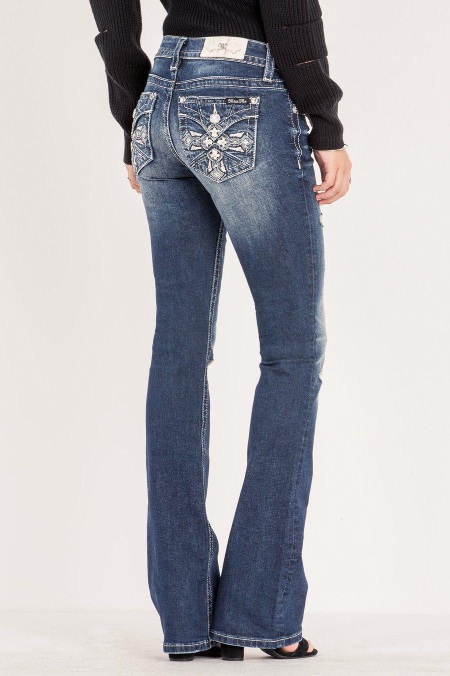 ea71c6534cff2 Calça Jeans Feminina Importada Miss Me- M3223B