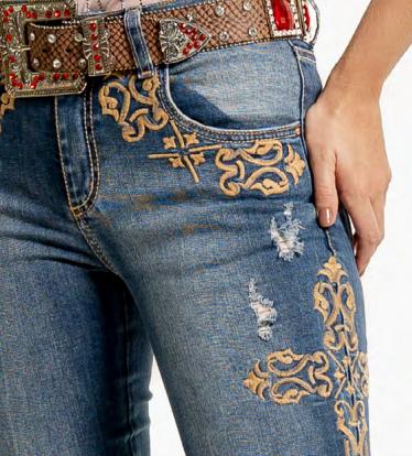 Calça Jeans Feminina Leslie West Dust