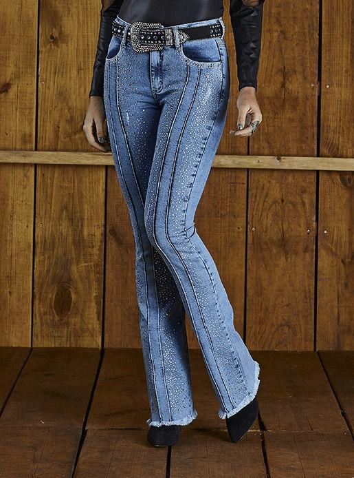 Calça Jeans Feminina Minuty Country Flare 20593