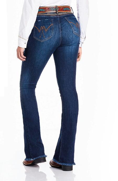 Calça Jeans Feminina Minuty Flare Bordada 21909