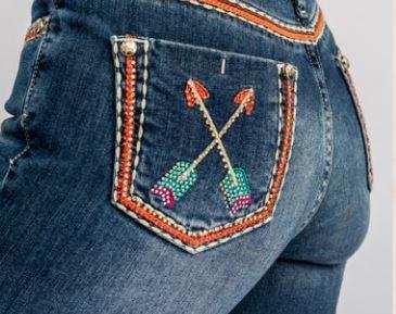 Calça Jeans Feminina Miss Country Agua Marinha