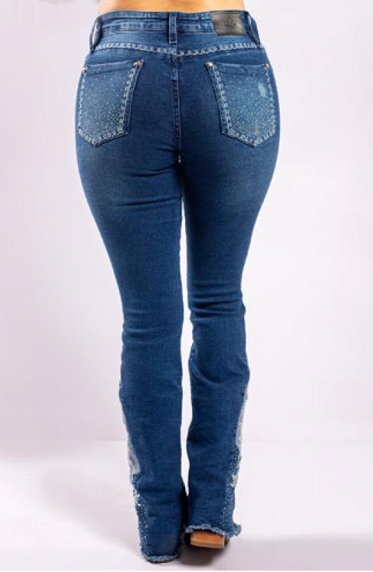 Calça Jeans Feminina Miss Country Arabesco