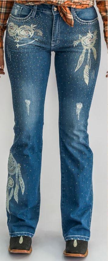 Calça Jeans Feminina Miss Country Pedra da Lua