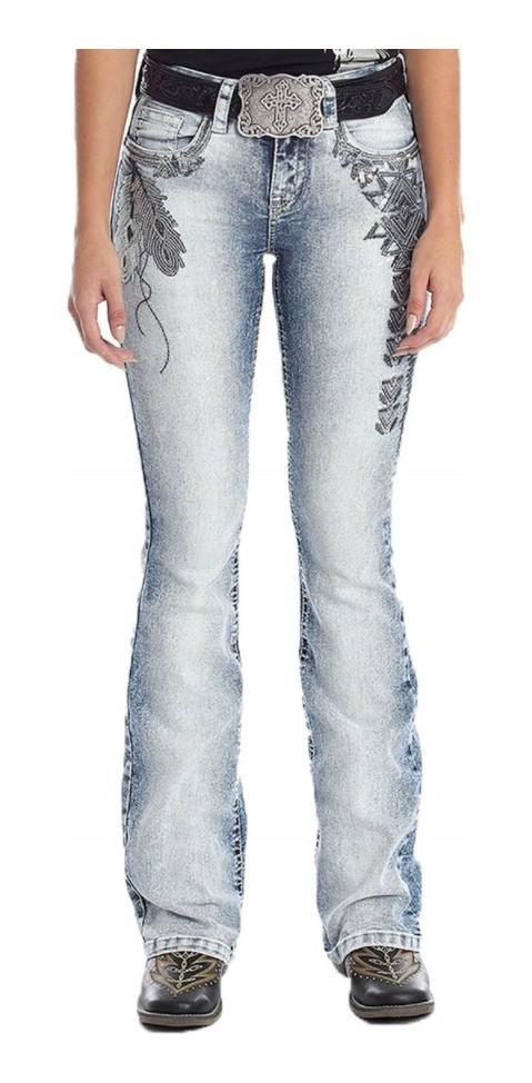 Calça Jeans Feminina Tassa Marmorizada Azul 4418