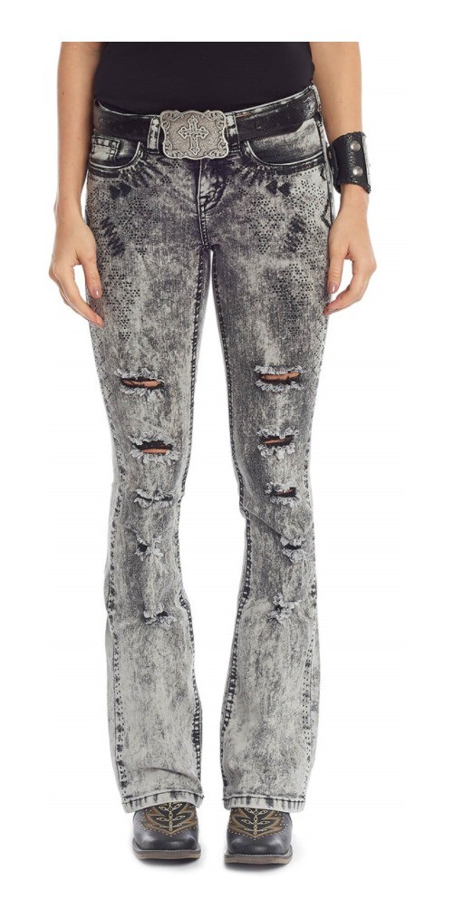 Calça Jeans Feminina Tassa Marmorizada Black 4409